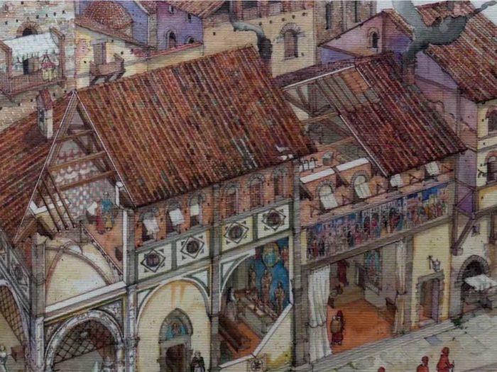 La storia della Misericordia, la Loggia del Bigallo di Firenze era nel 1321 la sede della Misericordiaede